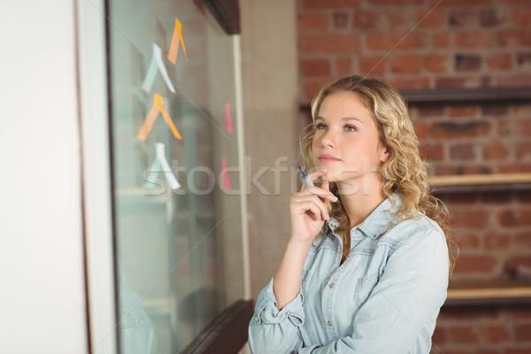 Thoughtful businesswoman in office Stock photo © wavebreak_media
