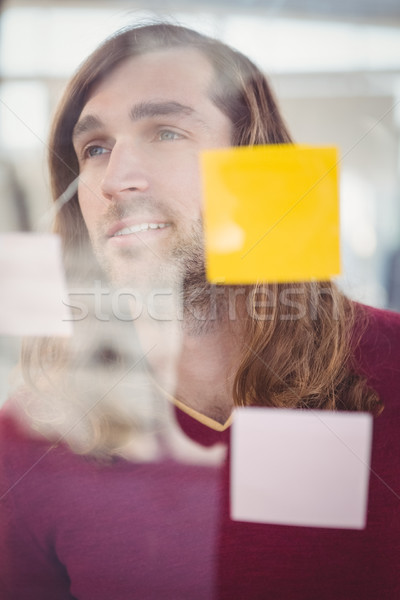 Confident businessman standing in front of sticky notes Stock photo © wavebreak_media