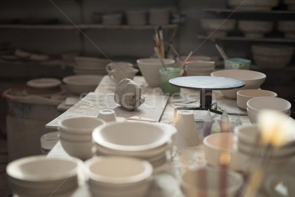 Pottery equipment on worktop Stock photo © wavebreak_media