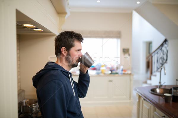 Man having a cup of coffee Stock photo © wavebreak_media