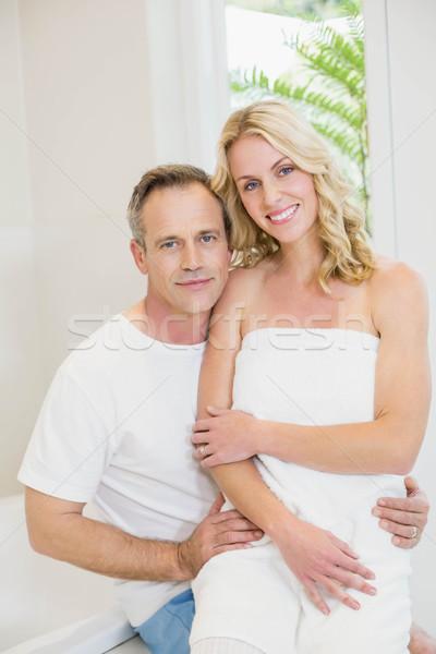 Cute couple hugging Stock photo © wavebreak_media