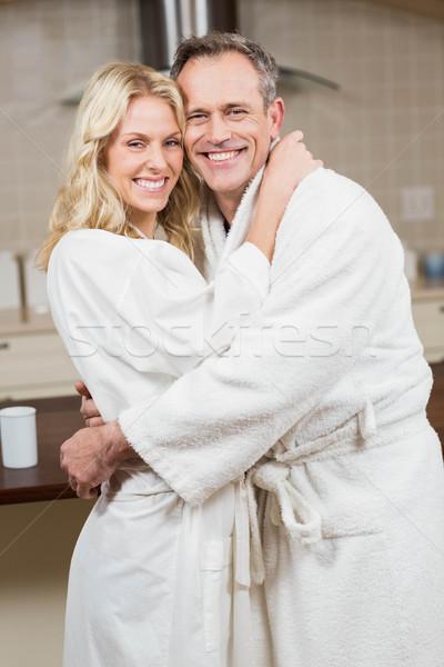 Sevimli çift kadın mutlu ev Stok fotoğraf © wavebreak_media