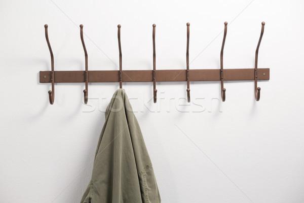 クローズアップ ジャケット 絞首刑 フック 白 壁 ストックフォト © wavebreak_media