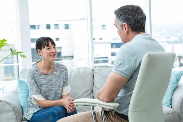 Mulher consultor terapeuta clínica feliz saúde Foto stock © wavebreak_media