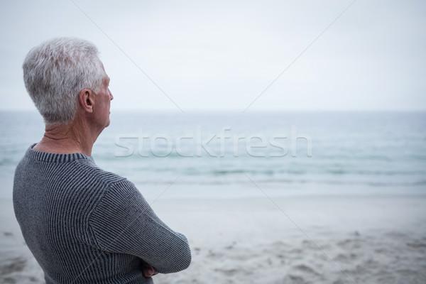 Senior man looking at sea Stock photo © wavebreak_media