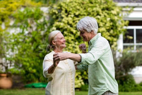 Happy senior couple dancing Stock photo © wavebreak_media