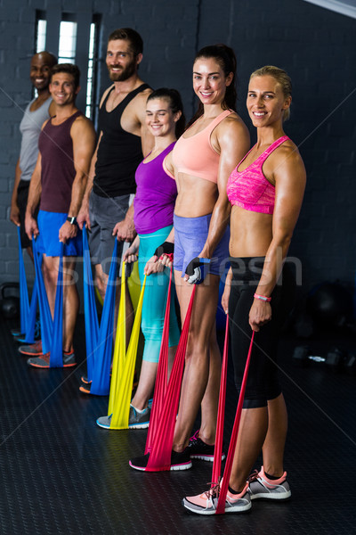 Mannelijke vrouwelijke weerstand band Stockfoto © wavebreak_media