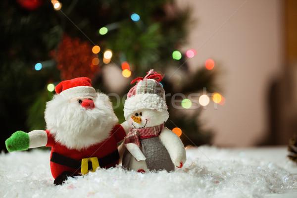 Babbo natale pupazzo di neve neve Natale tempo home Foto d'archivio © wavebreak_media