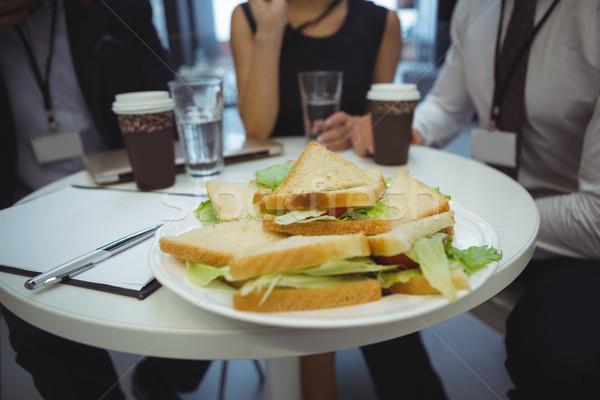 завтрак таблице служба бизнеса Сток-фото © wavebreak_media