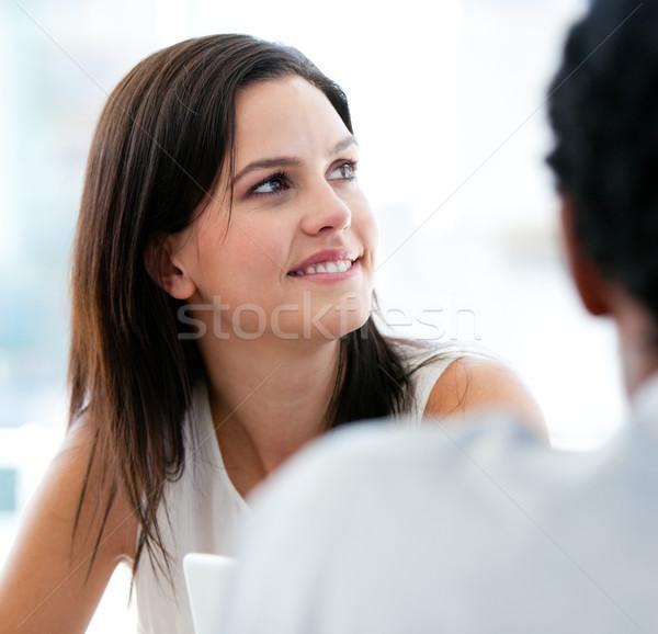 肖像 美しい 女性実業家 同僚 オフィス 幸せ ストックフォト © wavebreak_media