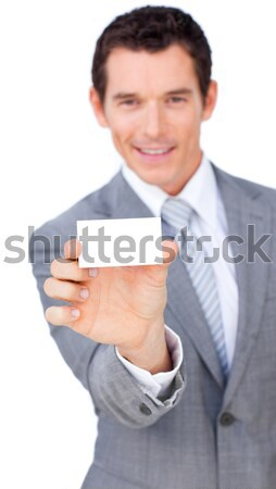Charismatic businessman holding a drinking cup Stock photo © wavebreak_media