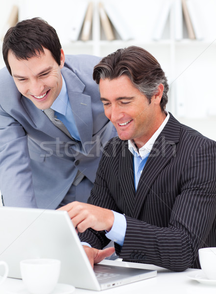 Two assertive colleagues working at a computer Stock photo © wavebreak_media
