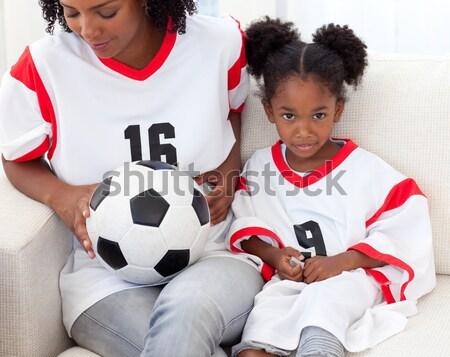 Szczęśliwy mały chłopca piłka sportowe Zdjęcia stock © wavebreak_media