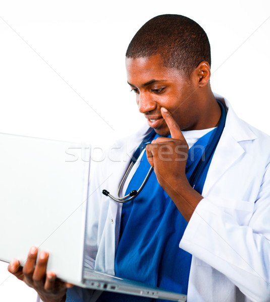 Close-up of an Thoughtful doctor working with a computer Stock photo © wavebreak_media