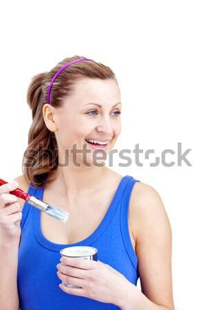 Orvos hüvelykujj felfelé fókusz arc női Stock fotó © wavebreak_media