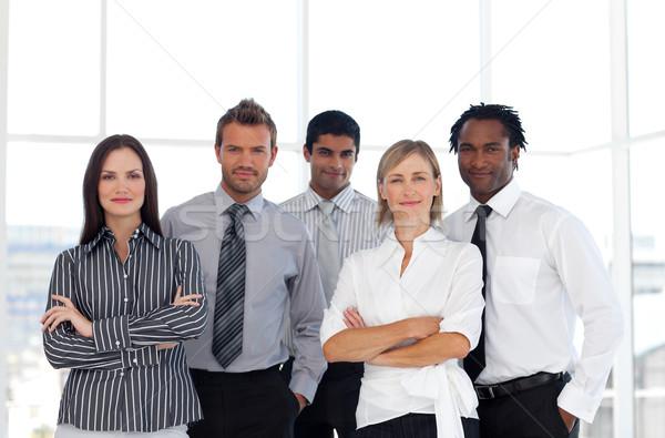 Stockfoto: Portret · internationale · bedrijfsleven · team · kantoor · business · zakenman