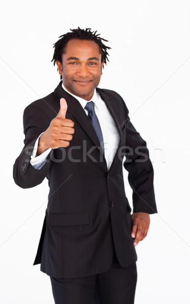 привлекательный бизнесмен большой палец руки вверх молодые Сток-фото © wavebreak_media
