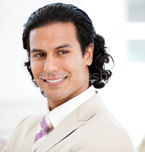 Portré karizmatikus üzletember mosolyog iroda boldog Stock fotó © wavebreak_media