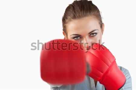 Kobiet bokser sweter biały sportu ciało Zdjęcia stock © wavebreak_media