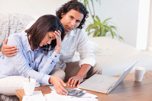 Young couple worried about their finances Stock photo © wavebreak_media