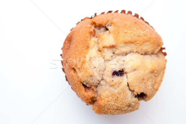 Közelkép muffin fehér étel háttér torta Stock fotó © wavebreak_media
