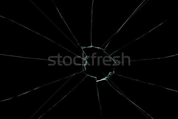 Vidro preto janela morango buraco jogar Foto stock © wavebreak_media