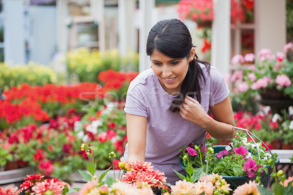 Woman shopping for and looking at plants in garden center  Stock photo © wavebreak_media
