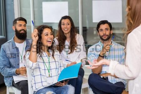 学生 話し 講義 成熟した 大学 教育 ストックフォト © wavebreak_media