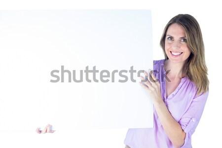 Feliz mulher jovem prato retrato Foto stock © wavebreak_media