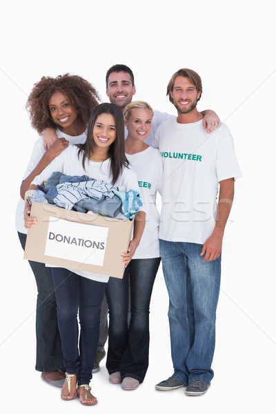 Feliz grupo voluntarios donación cuadro Foto stock © wavebreak_media