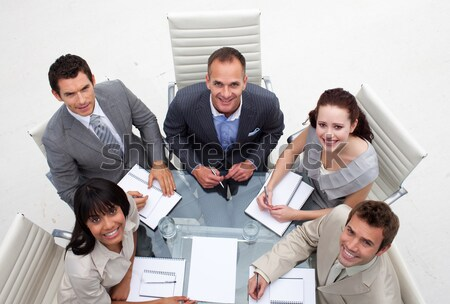 Reunión financieros asesor vista Foto stock © wavebreak_media