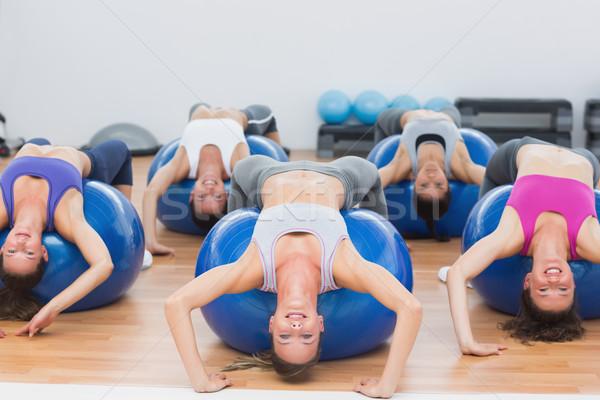 Portre sınıf egzersiz uygunluk spor salonu Stok fotoğraf © wavebreak_media