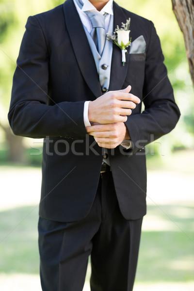 сложный жених рукав саду человека Сток-фото © wavebreak_media