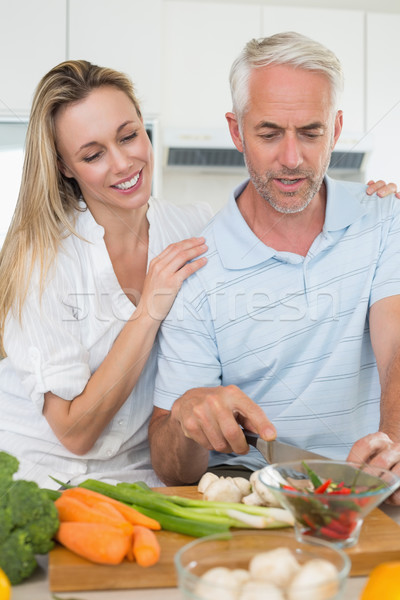Affettuoso Coppia cena insieme home cucina Foto d'archivio © wavebreak_media