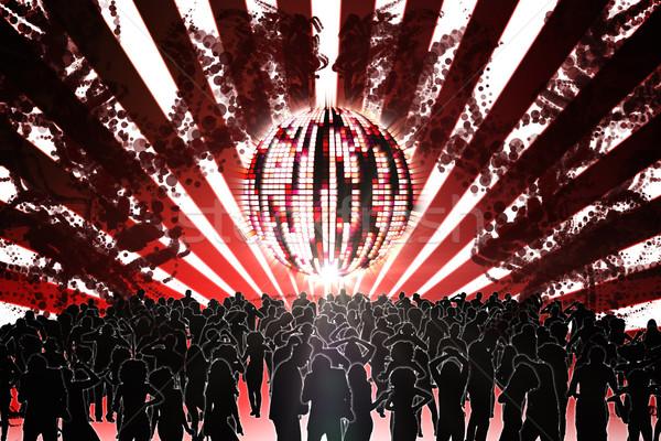 デジタル 生成された ナイトクラブ ディスコボール 人 ダンス ストックフォト © wavebreak_media