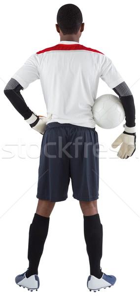 Doelverdediger witte bal voetbal versnelling Stockfoto © wavebreak_media