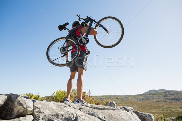 フィット 男 自転車 地形 ストックフォト © wavebreak_media