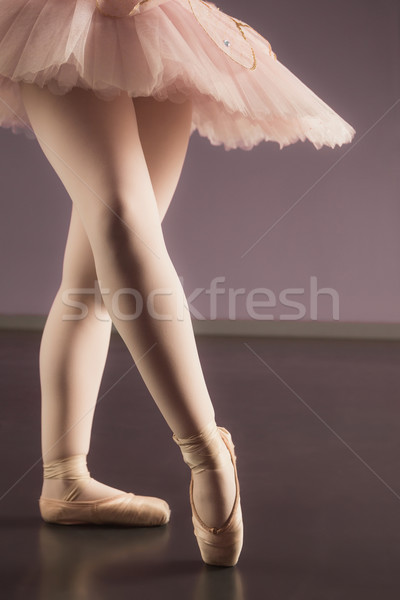 Ballerina standing in pink tutu Stock photo © wavebreak_media