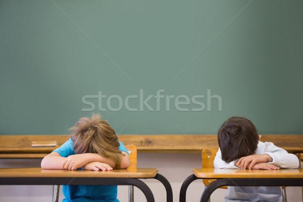 álmos iskolás osztályterem általános iskola iskola gyermek Stock fotó © wavebreak_media