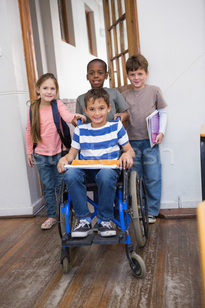 инвалидов друзей классе девушки школы Сток-фото © wavebreak_media