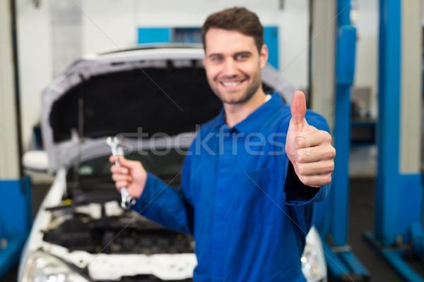 механиком пару ремонта гаража Сток-фото © wavebreak_media