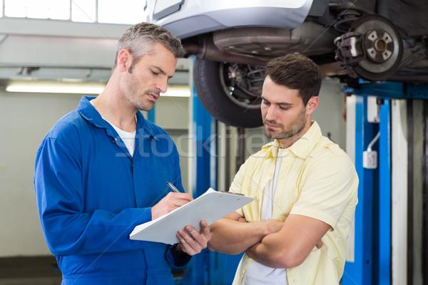 Customer listening to his mechanic Stock photo © wavebreak_media