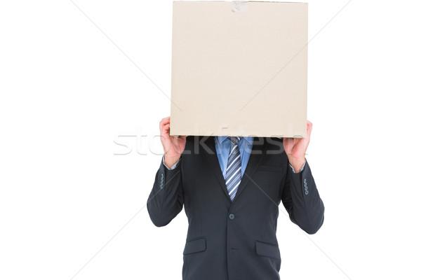 бизнесмен сокрытие голову окна белый человека Сток-фото © wavebreak_media