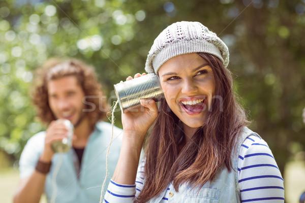 錫 女性 ツリー 電話 ストックフォト © wavebreak_media