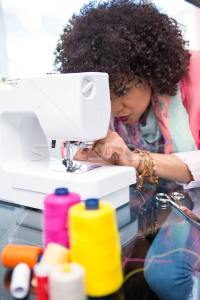 моде дизайнера швейные машины Привлекательная женщина бизнеса женщины Сток-фото © wavebreak_media