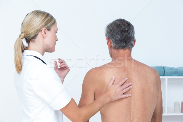 Médecin patient Retour médicaux bureau Photo stock © wavebreak_media