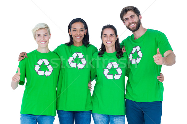 Friends wearing recycling tshirts  Stock photo © wavebreak_media