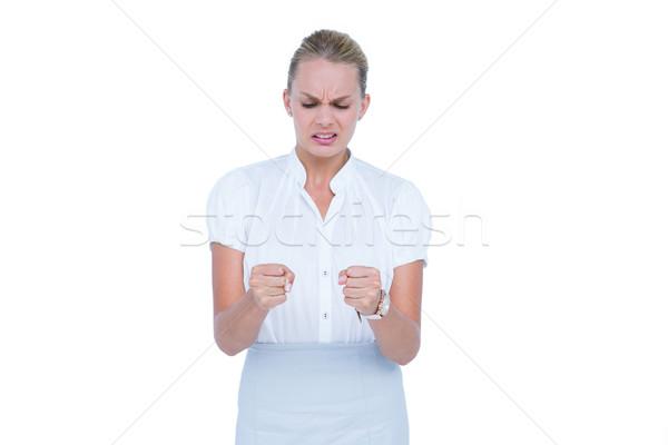 üzletasszony bosszús nő öltöny kommunikáció mérges Stock fotó © wavebreak_media