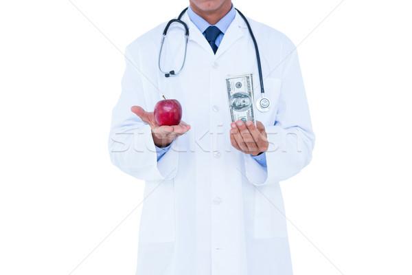 Medico contanti mela rossa verde mela Foto d'archivio © wavebreak_media