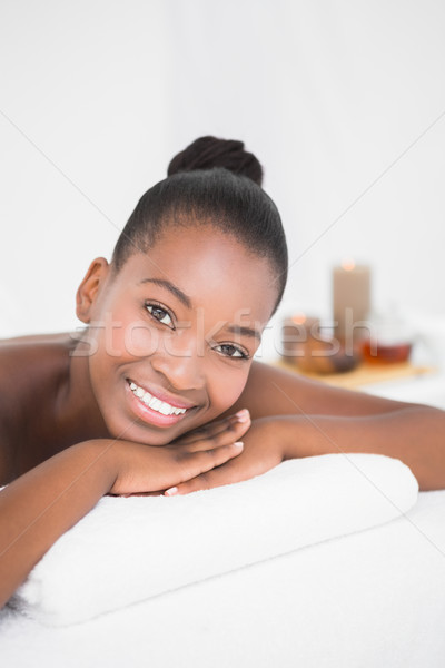 Paisible jolie femme massage table portrait femme Photo stock © wavebreak_media